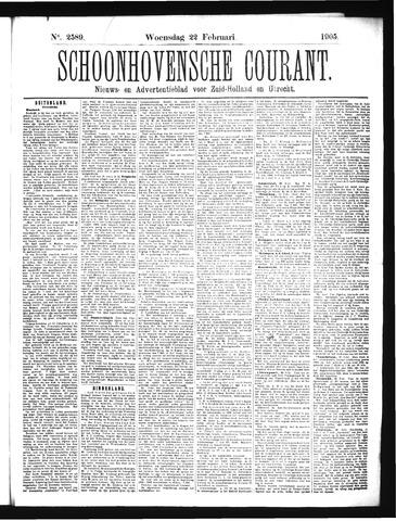 Schoonhovensche Courant 1905-02-22