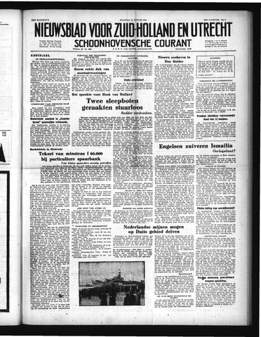 Schoonhovensche Courant 1952-01-21