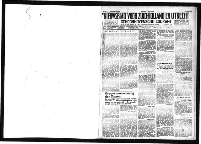 Schoonhovensche Courant 1940-01-03
