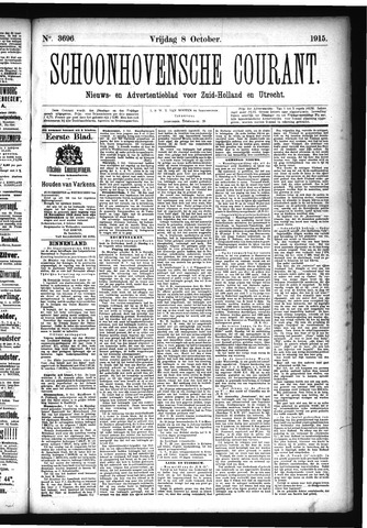 Schoonhovensche Courant 1915-10-08