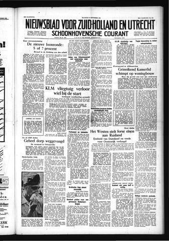 Schoonhovensche Courant 1954-09-13