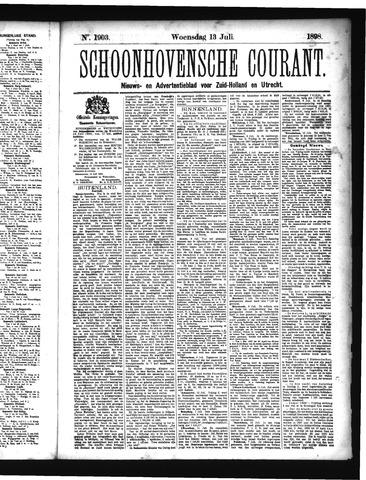 Schoonhovensche Courant 1898-07-13