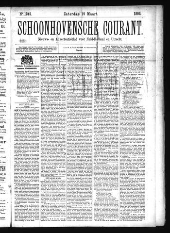 Schoonhovensche Courant 1892-03-19
