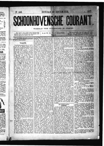 Schoonhovensche Courant 1877-12-30