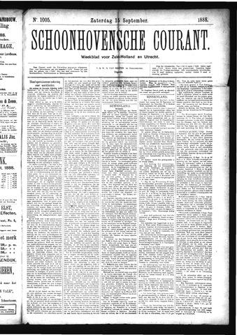Schoonhovensche Courant 1888-09-15