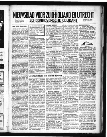 Schoonhovensche Courant 1948-02-09