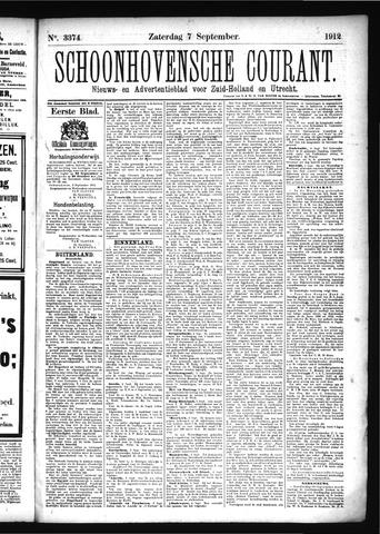 Schoonhovensche Courant 1912-09-07