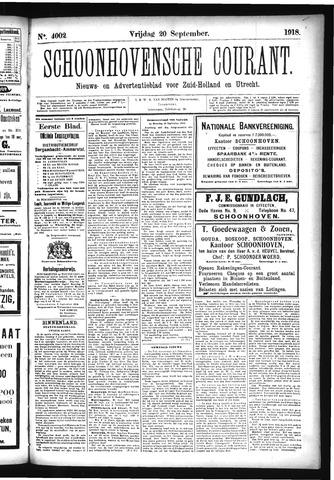 Schoonhovensche Courant 1918-09-20