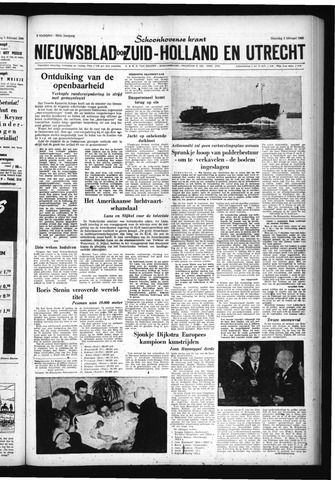 Schoonhovensche Courant 1960-02-08