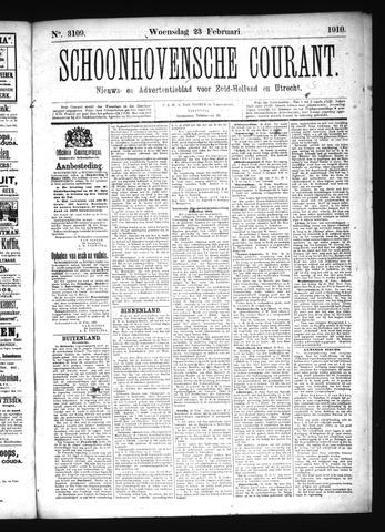Schoonhovensche Courant 1910-02-23