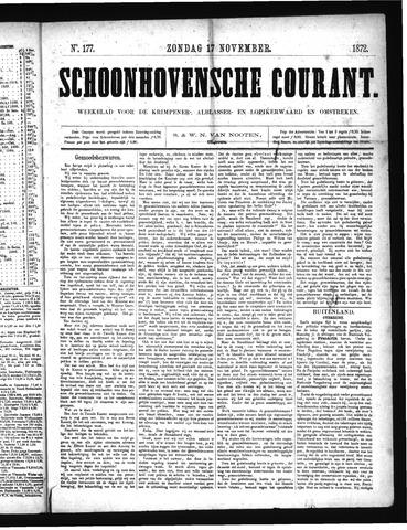 Schoonhovensche Courant 1872-11-17