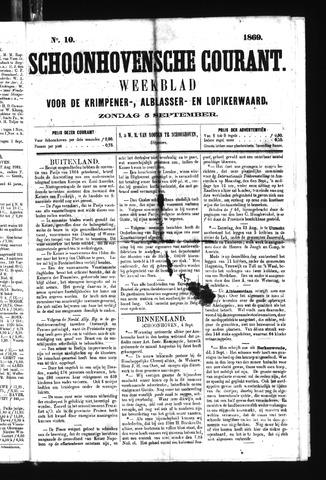 Schoonhovensche Courant 1869-09-05