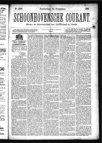 Schoonhovensche Courant 1891-12-24