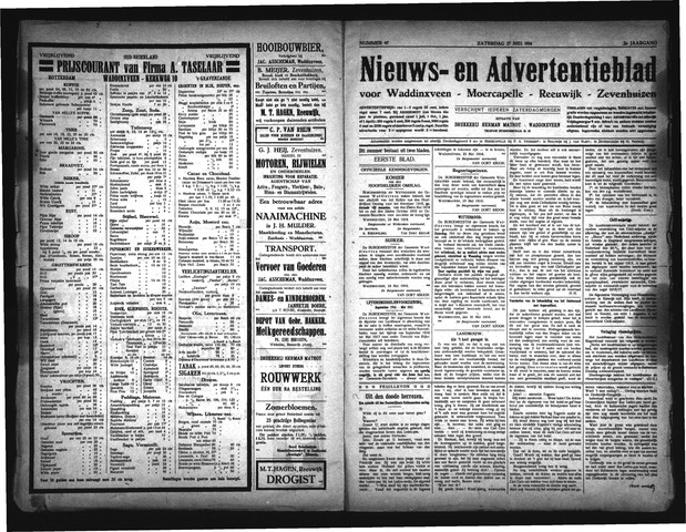 Advertentieblad Waddinxveen 1916-05-27