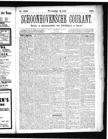 Schoonhovensche Courant 1910-07-13