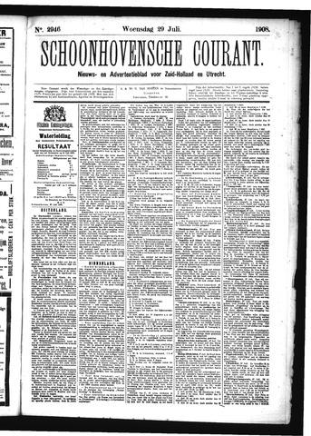 Schoonhovensche Courant 1908-07-29