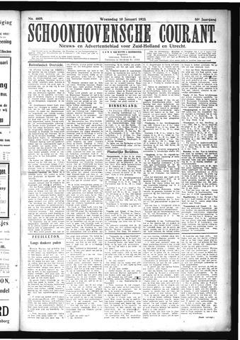 Schoonhovensche Courant 1923-01-10