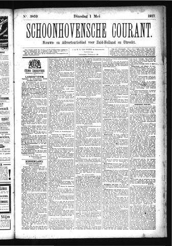Schoonhovensche Courant 1917-05-01