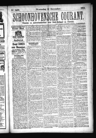 Schoonhovensche Courant 1912-12-25