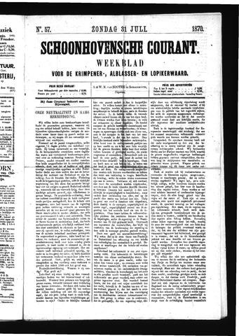 Schoonhovensche Courant 1870-07-31