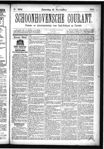 Schoonhovensche Courant 1914-11-21