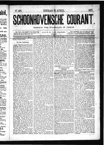 Schoonhovensche Courant 1877-04-22
