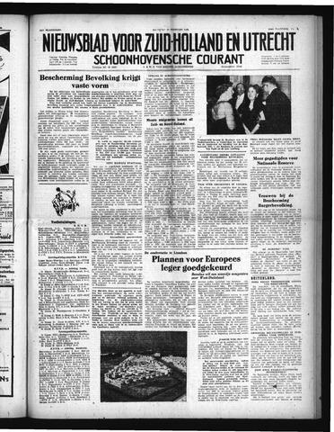 Schoonhovensche Courant 1952-02-25