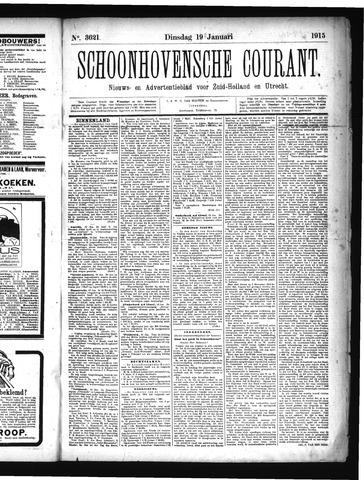 Schoonhovensche Courant 1915-01-19