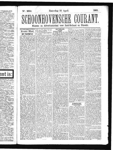 Schoonhovensche Courant 1905-04-15