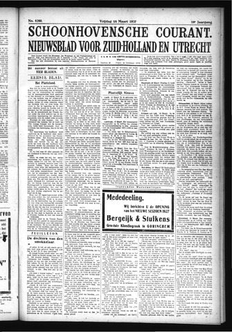 Schoonhovensche Courant 1927-03-18