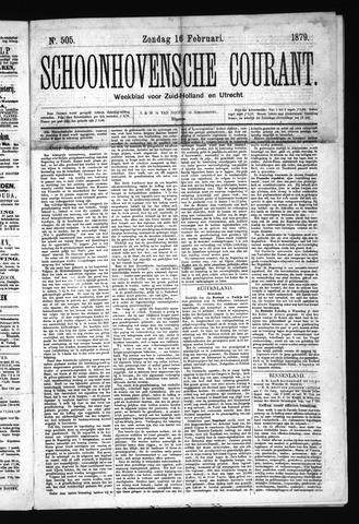 Schoonhovensche Courant 1879-02-16