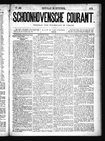 Schoonhovensche Courant 1876-10-29