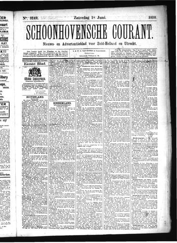 Schoonhovensche Courant 1910-06-18