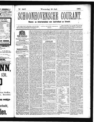 Schoonhovensche Courant 1903-07-29