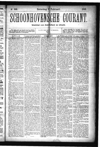 Schoonhovensche Courant 1886-02-06