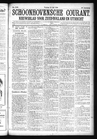 Schoonhovensche Courant 1926-07-23