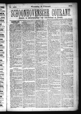 Schoonhovensche Courant 1913-02-19