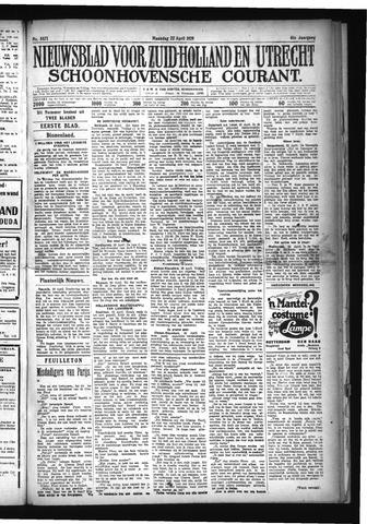 Schoonhovensche Courant 1929-04-22