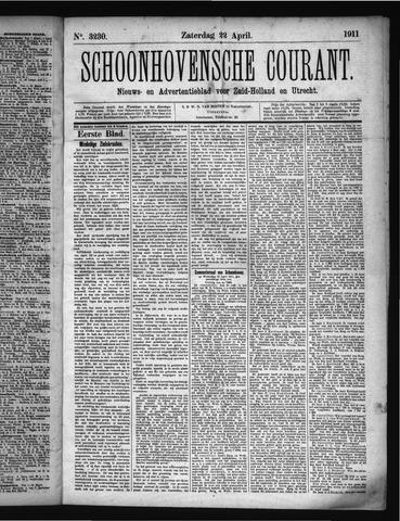 Schoonhovensche Courant 1911-04-22