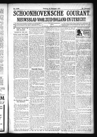 Schoonhovensche Courant 1927-02-18