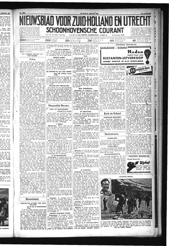 Schoonhovensche Courant 1932-01-22