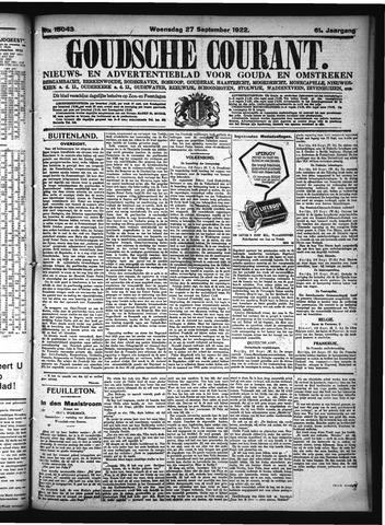 Goudsche Courant 1922-09-27