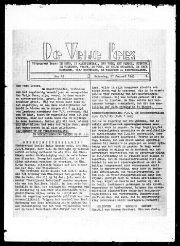 De Vrije Pers 1945-01-27