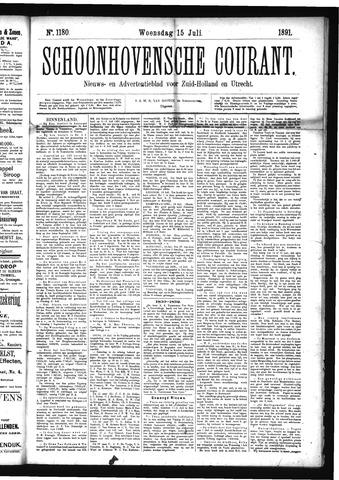 Schoonhovensche Courant 1891-07-15