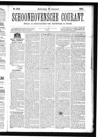 Schoonhovensche Courant 1892-01-23