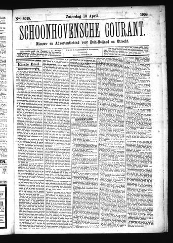 Schoonhovensche Courant 1909-04-10