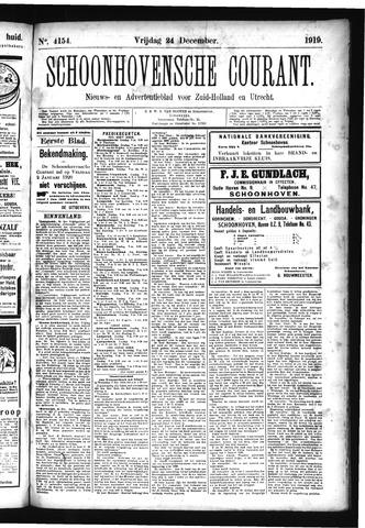 Schoonhovensche Courant 1919-12-24