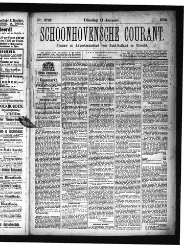 Schoonhovensche Courant 1916-01-11