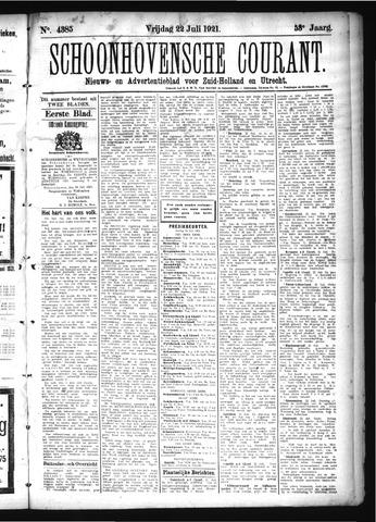 Schoonhovensche Courant 1921-07-22