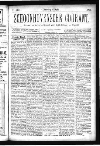 Schoonhovensche Courant 1918-07-02